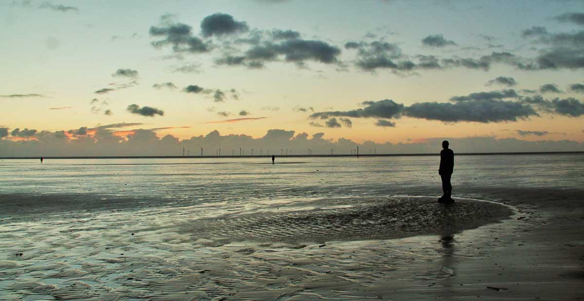 Evening on Crosby Beach by Adrian Ashurst
