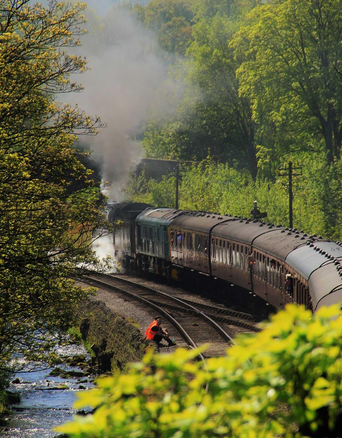 Steam train at Haworth by Adrian Ashurst