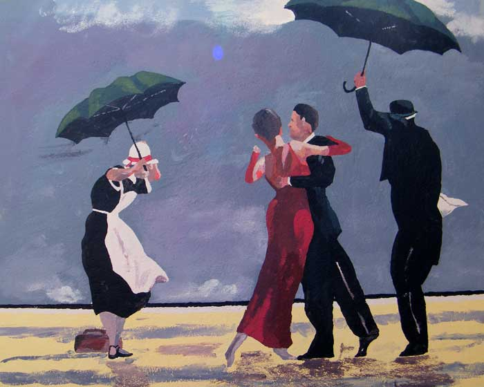 Back yard mural - The Singing Butler by Jack Vettriano