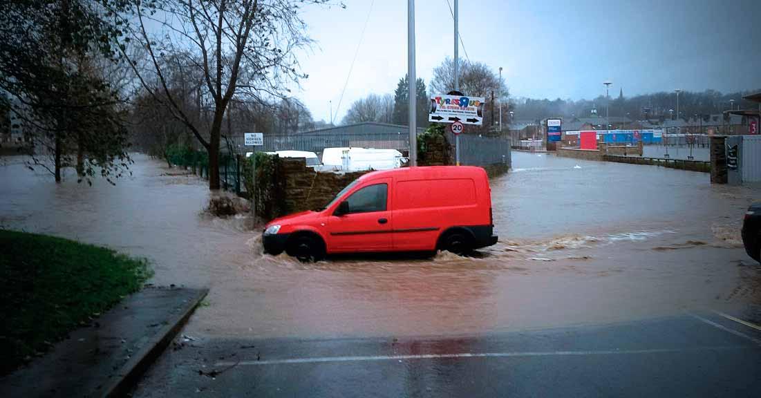 Flood in Padiham centre