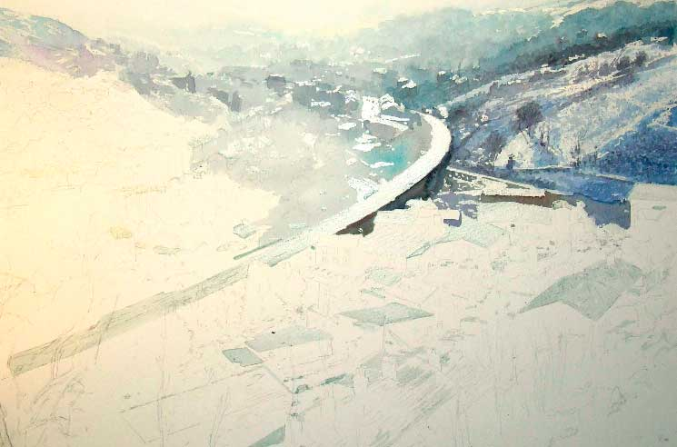 watercolour early stage