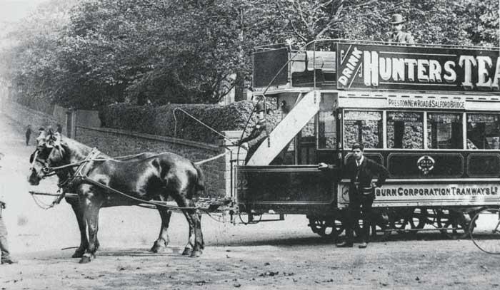 A Blackburn horse tram