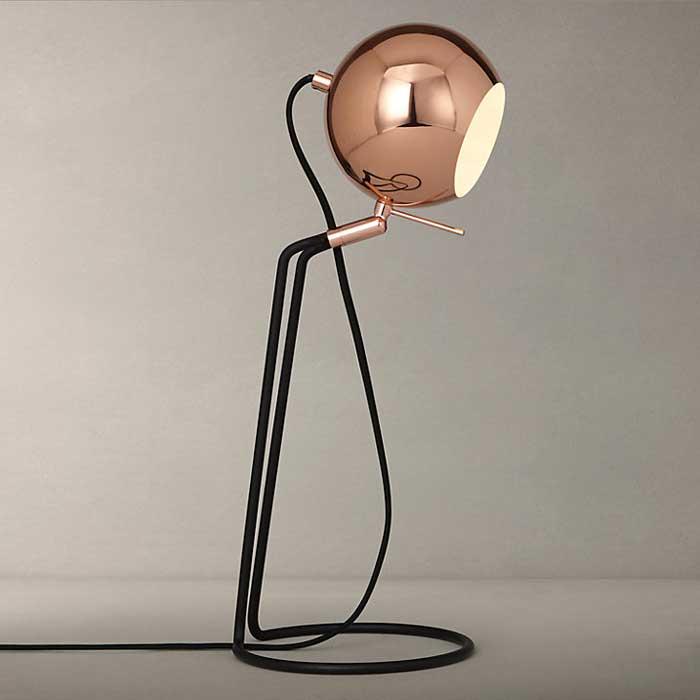 John Lewis Isaac Ball Task Light, Copper