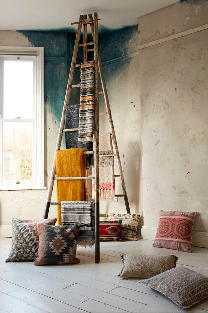 Jute & Textured Cotton Cushion