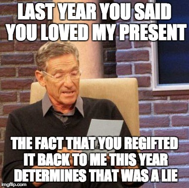 hated Christmas presents