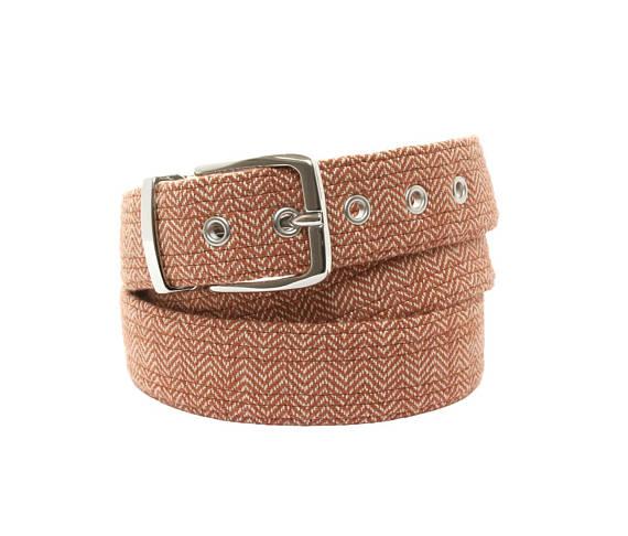 Brick herringbone belt