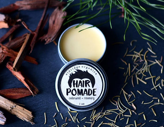 Organic hair pomade