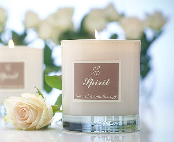 Scented soy candle earth mum