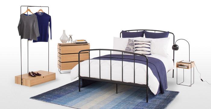Bark 250 x 260cm 100% Cotton Bedspread, Indigo