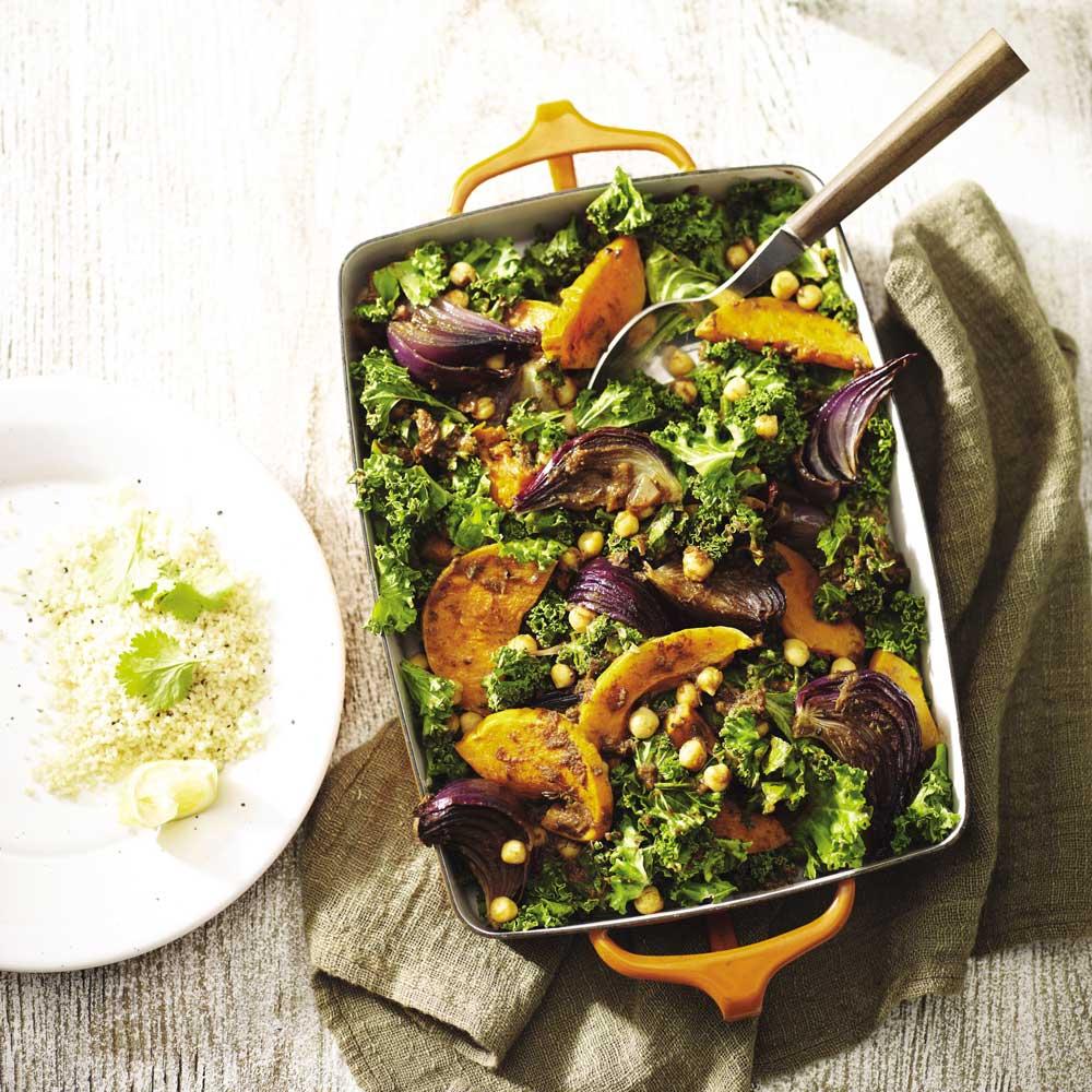 Kale Squash and Chickpea Tagine