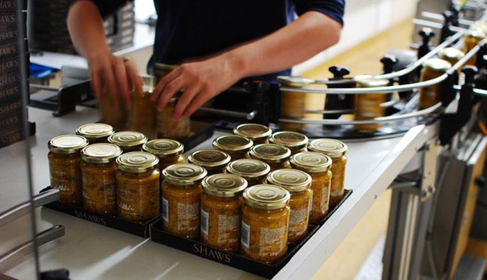 Collating 130 jars of Piccalilli