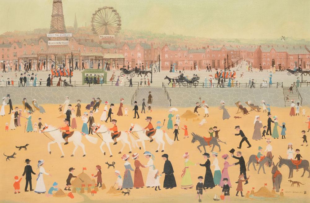 Helen Bradley 'Blackpool Beach'