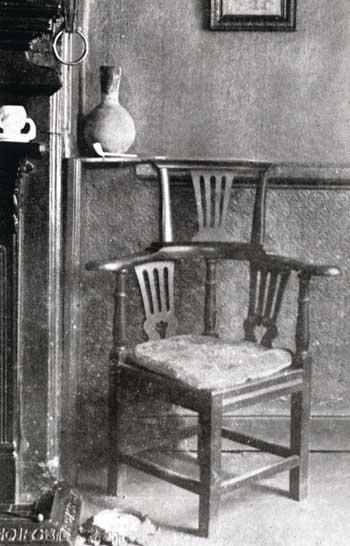 Branwell Brontë's chair in the Black Bull