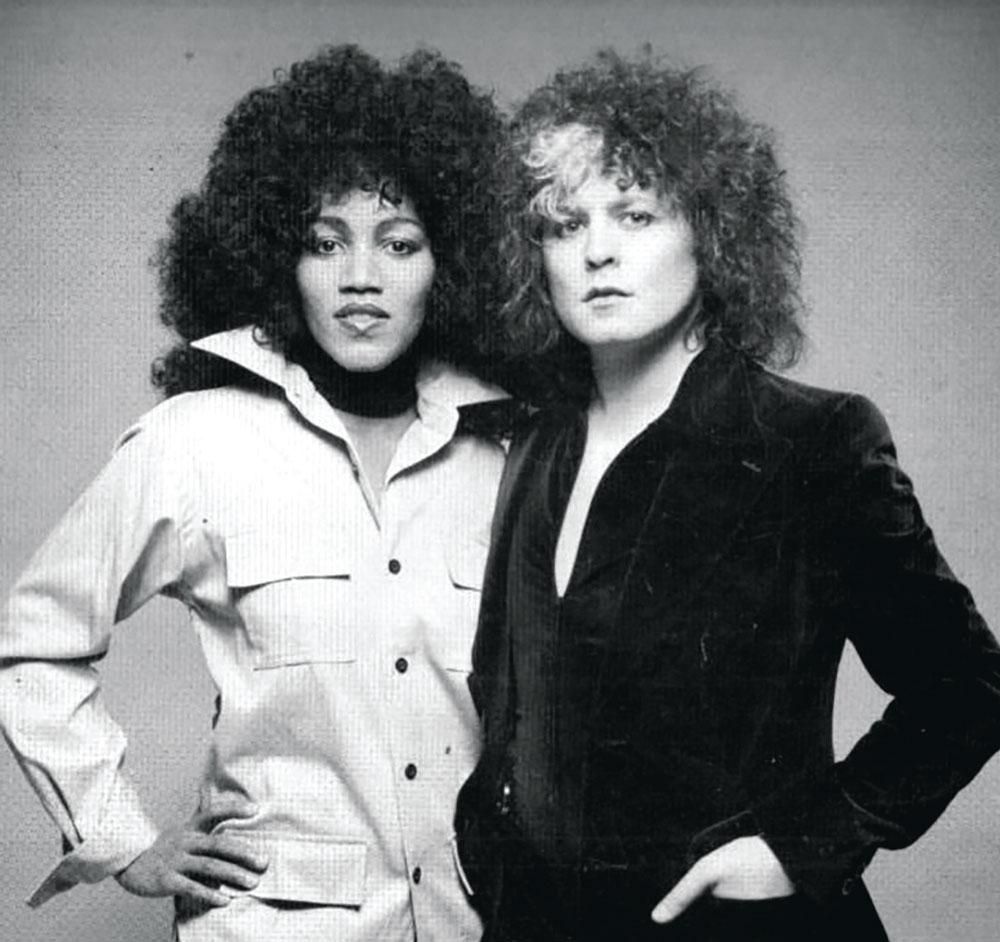 Gloria Jones with Marc Bolan