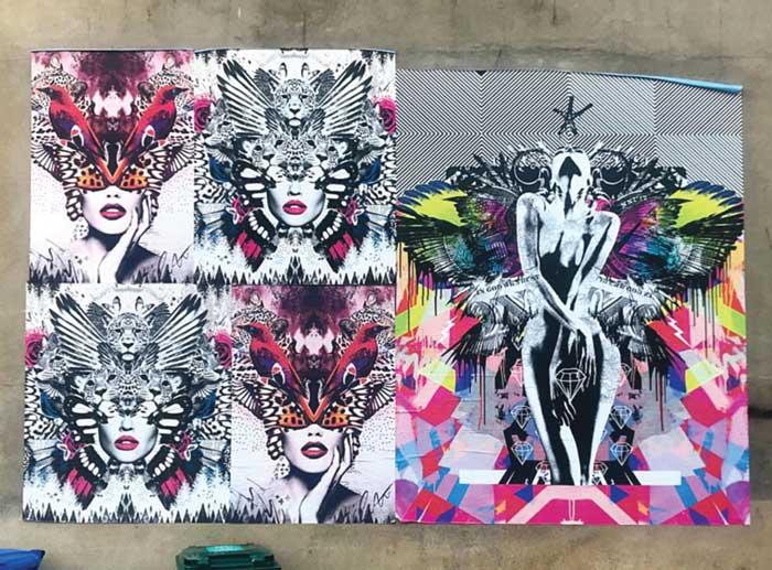 Olly Howe & Ben Allen's Art of protest mural