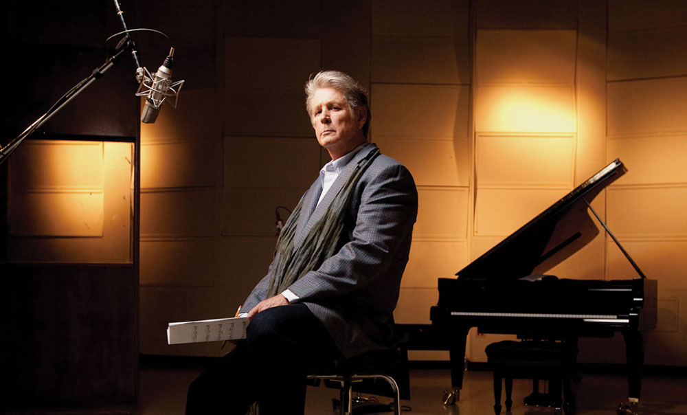 Brian Wilson at home in his studio
