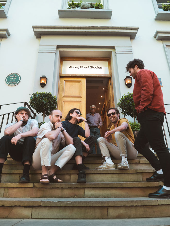 Heir on the steps of the Abbey Road Studios