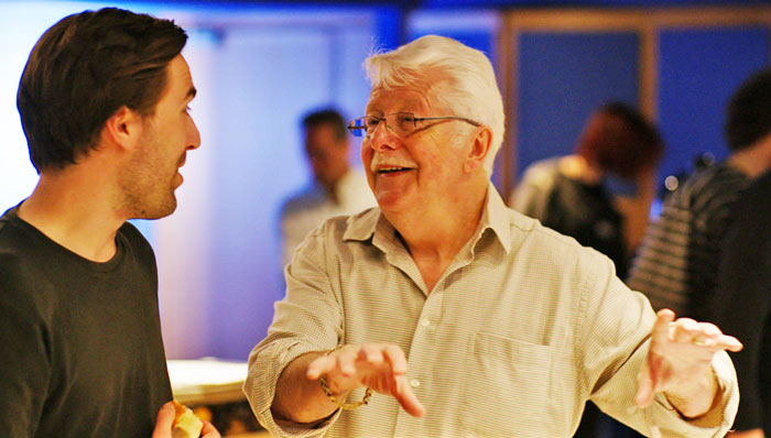 Tom Hammond and Ken Scott at Abbey Road