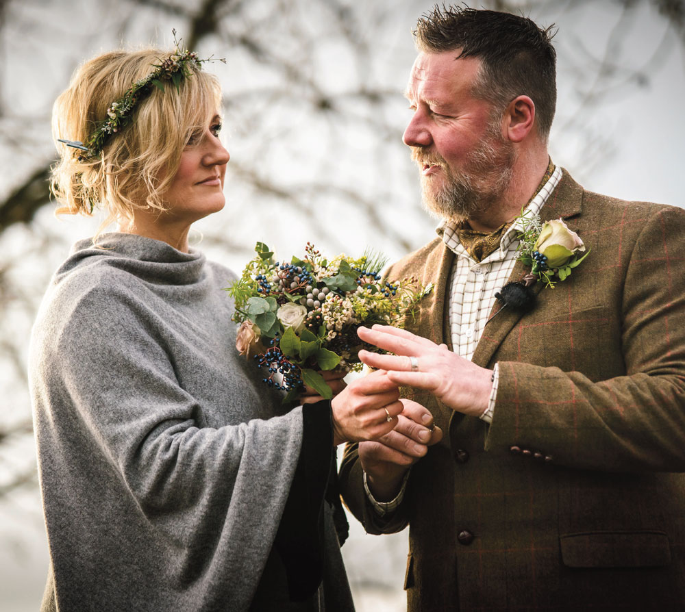Erica and Bob get hitched